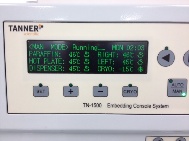 TN1500 Tissue Embedding Center Large Display